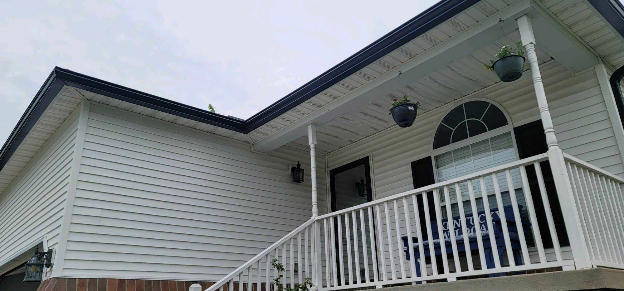 Gutters on new home