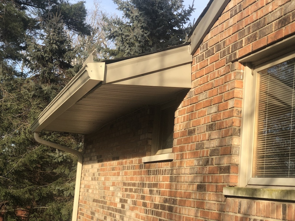 Gutters on home